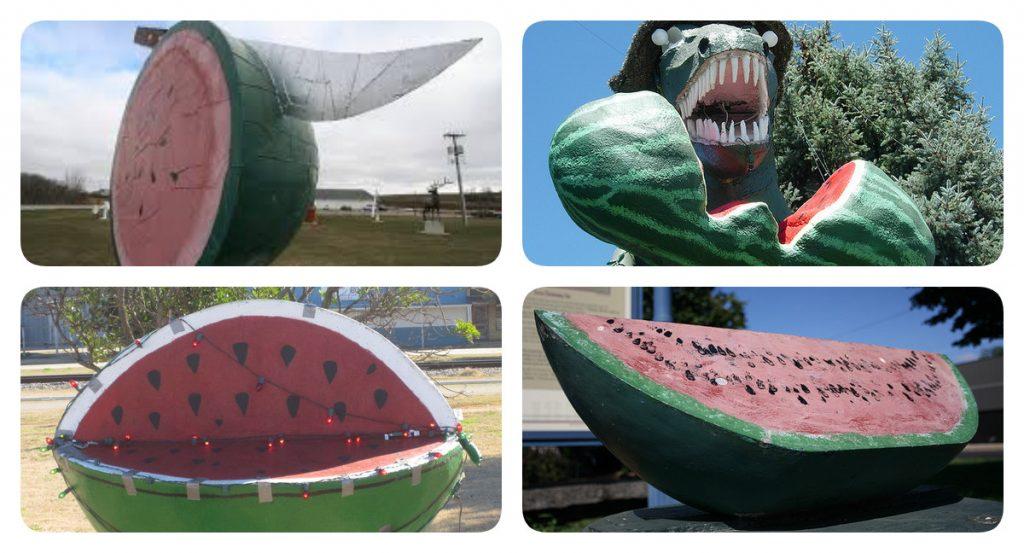 памятник арбузу в США
