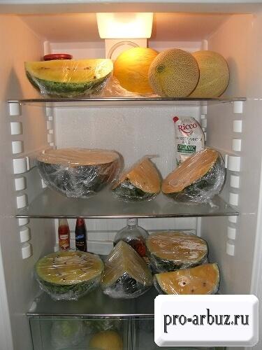 Срок хранения разрезанного арбуза в холодильнике