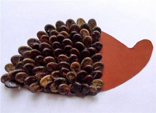 ежик из арбузных семечек