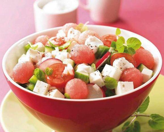 салат арбуз и фета