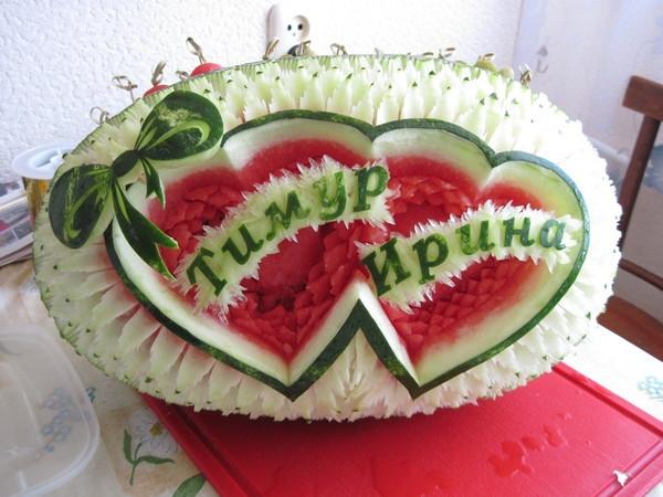 свадебный карвинг арбуза