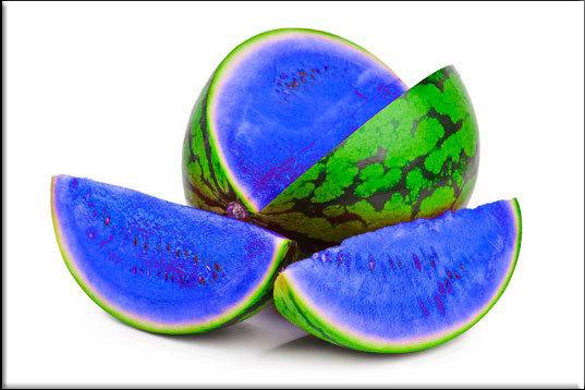 синий арбуз