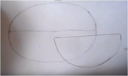 нарисовать арбуз пошагово