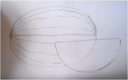 нарисовать арбуз