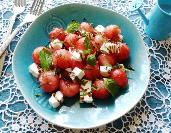 арбузный салат с мятой