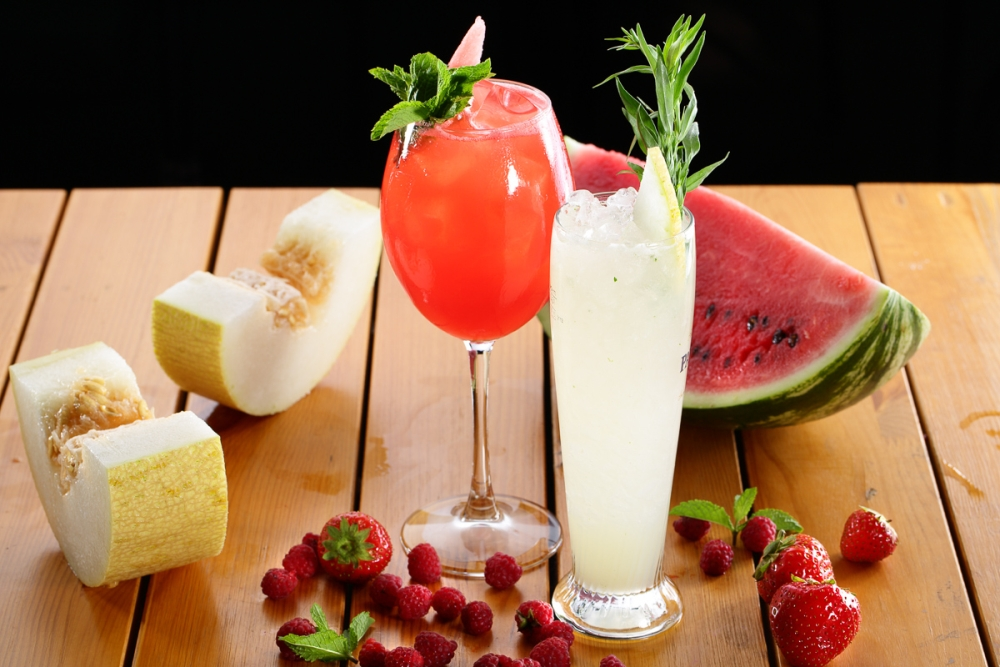 сок из арбуза и дыни