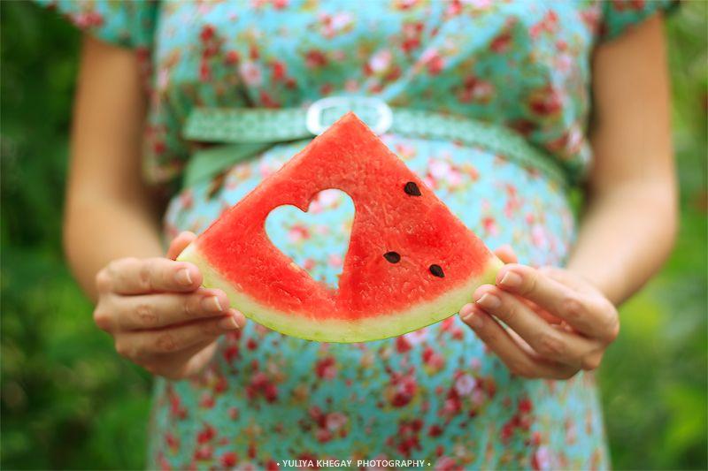 фото с арбузом беременность