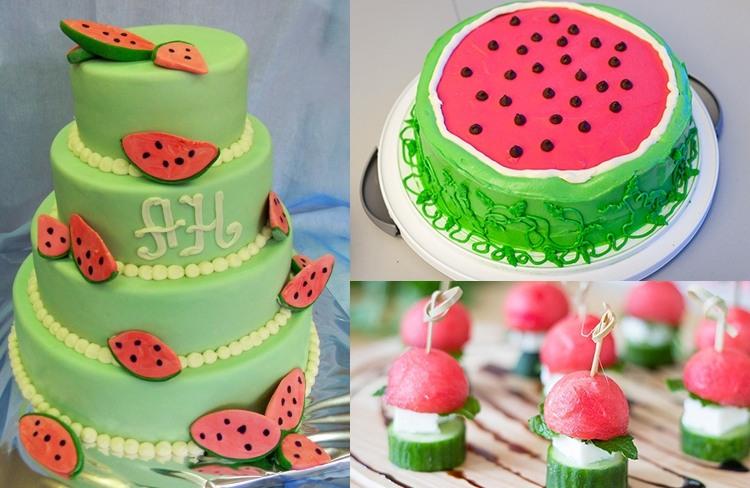 торт арбузная свадьба